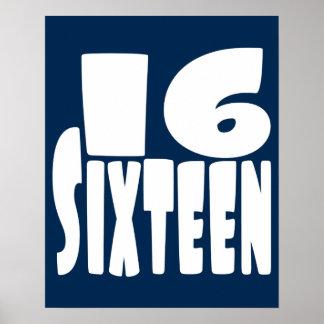 大きい第16第16誕生日 ポスター