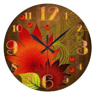 大きい紅葉の柱時計 ラージ壁時計