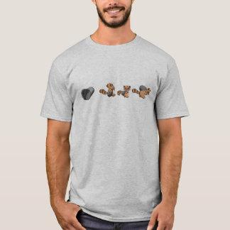大きい素晴らしいTanukiの強盗のTシャツ- Tシャツ