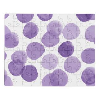 大きい紫色のドット・パターン ジグソーパズル