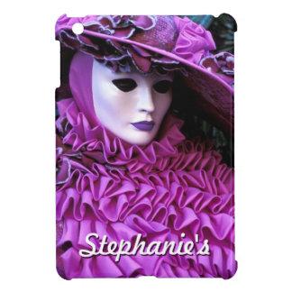大きい紫色の帽子を持つ覆われた女性 iPad MINIケース