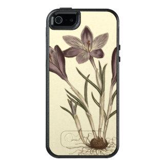大きい紫色の春のクロッカスの植物の絵 オッターボックスiPhone SE/5/5s ケース