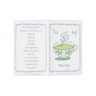 大きい緑の茶葉の読書 ラージMoleskineノートブック