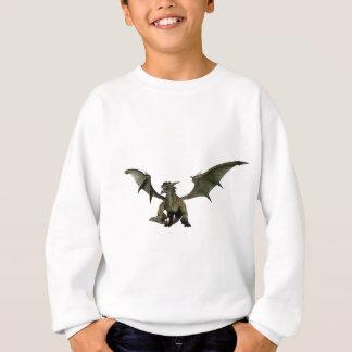 大きい緑ドラゴン スウェットシャツ
