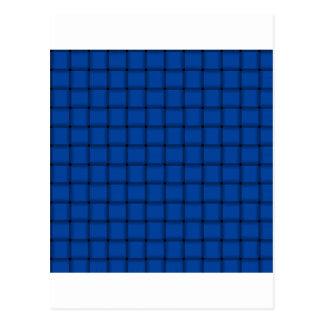大きい織り方-コバルト ポストカード