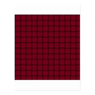 大きい織り方-バーガンディ ポストカード