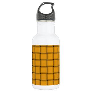 大きい織り方-暗い蜜柑 ウォーターボトル