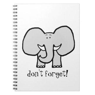 大きい耳は象ノートを忘れません ノートブック