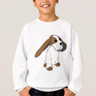 大きい耳を搭載するおもしろいでかわいいアニメ犬 スウェットシャツ