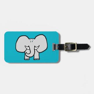 大きい耳象の青い荷物のラベル バッグタグ