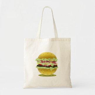 大きい脂肪質のハンバーガーのトートバック トートバッグ
