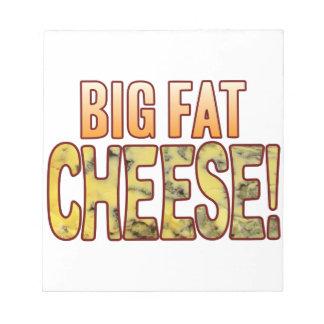 大きい脂肪質のブルーチーズ ノートパッド