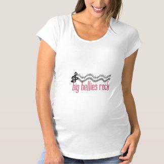 大きい腹石の母性 マタニティTシャツ
