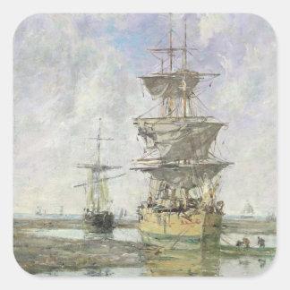 大きい船1879年(キャンバスの油) スクエアシール