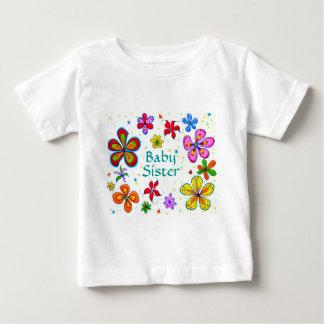 大きい花のベビーの姉妹の子供の衣類 ベビーTシャツ
