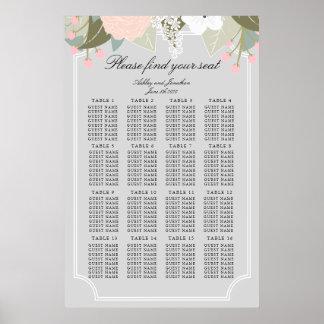 大きい花の座席の図表 ポスター
