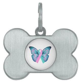 大きい蝶突然変異体の強いロゴ ペットネームタグ