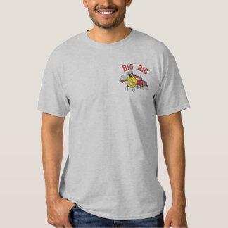 大きい装備のトラック運転手によって刺繍されるワイシャツ 刺繍入りTシャツ