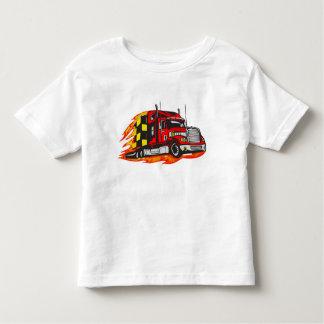 大きい装備のトラック トドラーTシャツ