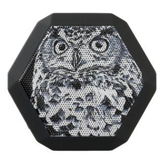 大きい角状フクロウの芸術 ブラックBluetoothスピーカー