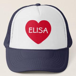 大きい赤いハートのカスタマイズ可能な帽子 キャップ