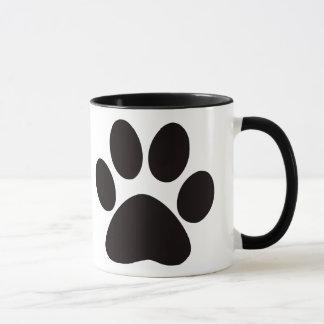 大きい足のプリントのコーヒー・マグ マグカップ