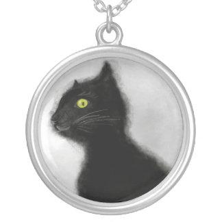 大きい銀によってめっきされるネックレスの黒猫の悪のマスター シルバープレートネックレス