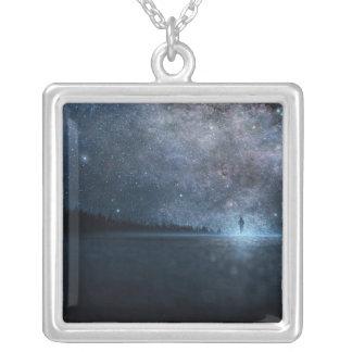 大きい銀によってめっきされる正方形のネックレス シルバープレートネックレス