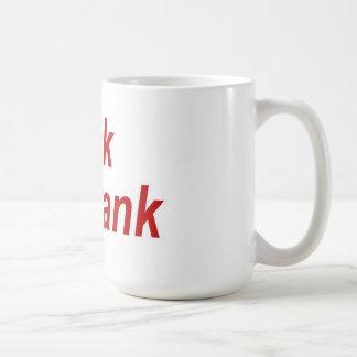 大きい銀行マグを平手で打って下さい コーヒーマグカップ