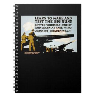 大きい銃を作り、テストするために学んで下さい! ノートブック