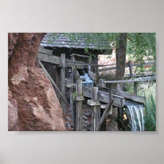 大きい雷山の鉄道の滝 ポスター