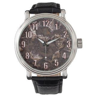大きい青銅色数を用いる自然な石造りの質 腕時計