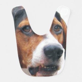 大きい顔のTreeingの歩行者のCoonhoundのベビー用ビブ ベビービブ