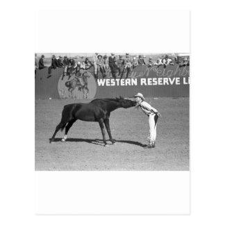 大きい馬のキス1940年 ポストカード