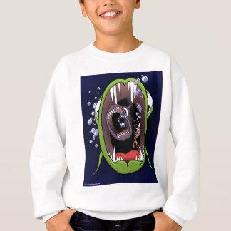 大きい魚の中型の魚の小さい魚Shrimp.jpg スウェットシャツ