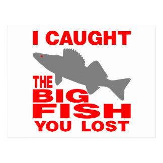 大きい魚のWALLEYE ポストカード