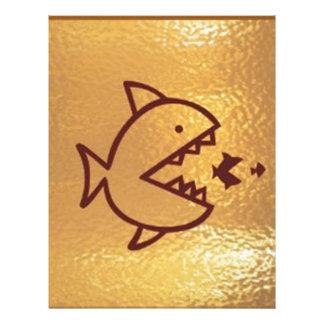 大きい魚は小さい魚を食べます レターヘッド
