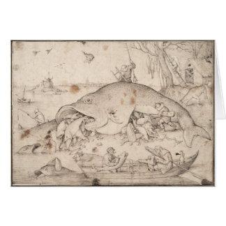 大きい魚はPieter Bruegelによって小さい魚を食べます カード