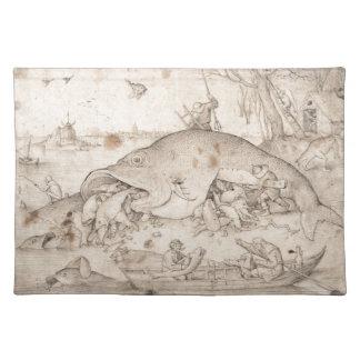 大きい魚はPieter Bruegelによって小さい魚を食べます ランチョンマット