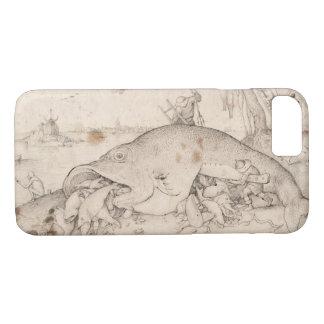 大きい魚はPieter Bruegelによって小さい魚を食べます iPhone 8/7ケース