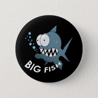 大きい魚-標準、2つの¼のインチ円形ボタンの 缶バッジ