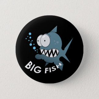 大きい魚-標準、2つの¼のインチ円形ボタンの 5.7CM 丸型バッジ