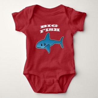 大きい魚-赤ん坊のジャージーのボディスーツ ベビーボディスーツ