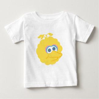 大きい鳥のベビーの大きい顔 ベビーTシャツ