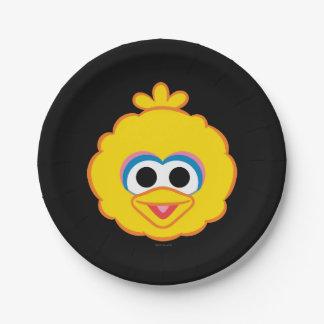 大きい鳥の微笑の顔 紙皿 小