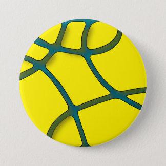 大きい黄色い当惑3はボタンのあたりでじりじり動きます 7.6CM 丸型バッジ