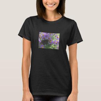 大きい黒曜石の蝶- Tシャツ