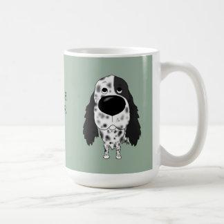 大きい鼻の英国セッター コーヒーマグカップ