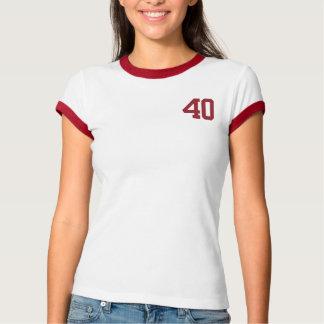 大きい40の誕生日のティー Tシャツ