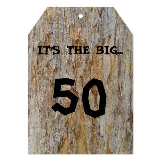 大きい50の誕生日の招待状 12.7 X 17.8 インビテーションカード